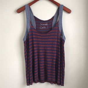 We the Free - Free People / Red & Blue Striped Top